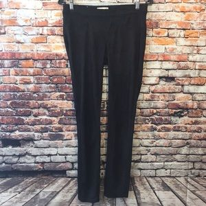 Black faux soft suede altard state stretch pants